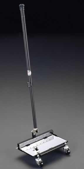 エスコ ESCO  140x290mm 大型点検ミラー(LEDライト・キャスター付) EA724BB-21 [I120120]