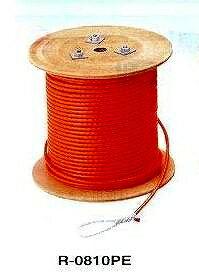 マーベル MARVEL 通線 入線工具 ハンガー けん引ロープ 100メートル(8本打ち) R-0810PE [A011210]