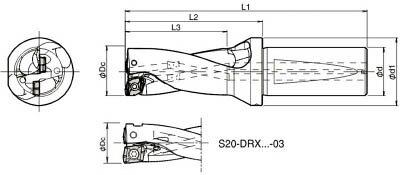 京セラ KYOCERA  ドリル用ホルダ S25-DRX220M-2-07 [A080115]