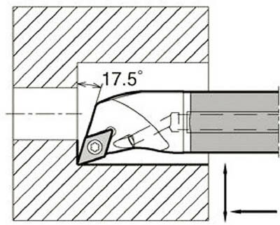 京セラ KYOCERA  内径加工用ホルダ E12Q-SDQCR07-16A [A080115]