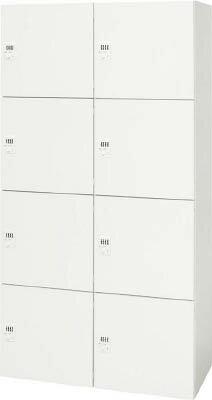 ダイシン工業 【代引不可】【直送】 壁面収納庫 メールロッカー型  下置き専用D450 ホワイト V945-188PLD [A181310]
