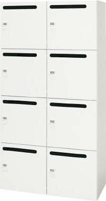 ダイシン工業 【代引不可】【直送】 壁面収納庫 メールロッカー型  下置き専用D450 ホワイト V945-188MLD [A181310]