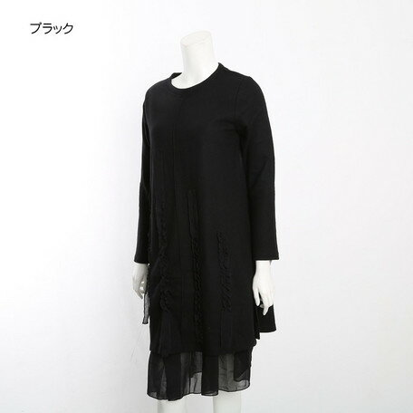 期間限定 ワンピース レディース ミセス M~L フリル プリーツ ロングワンピース レディースファッション ワンピ ※fu