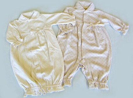 ベビー服 キッズ ベビー オーガニックコットン オーガニック カットソー レース リボン 2way ドレス 日本製 国産品 ベビー用品