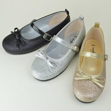 女の子靴 キッズ 子供靴 グリッター バレエシューズ バレエ シューズ 日本製 国産品 ベビー 靴 子供用 女の子