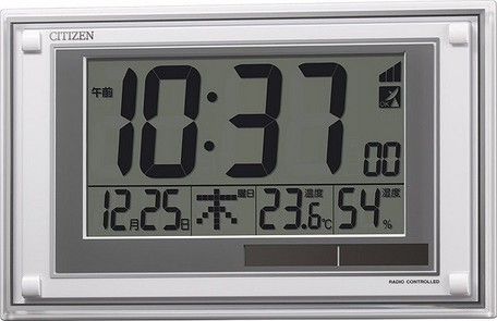 掛け時計 インテリア・寝具・収納 シチズン ソーラー 電源 デジタル 電波 時計 掛置 兼用