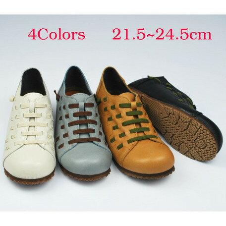 期間限定 カジュアルシューズ レディース レディース靴 本革 ゆったり 4E カジュアル デザインシューズ 日本製 国産品 靴 シューズ ※fu