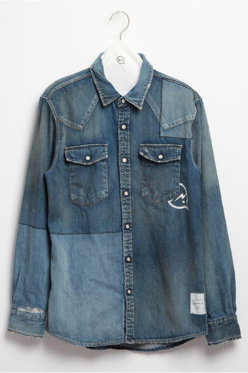 Patchwork denim shirts (VFS1057) DENIM BY VANQUISH&FRAGMENT(デニム・ バイ・ヴァンキッシュ・アンド・フラグメント)