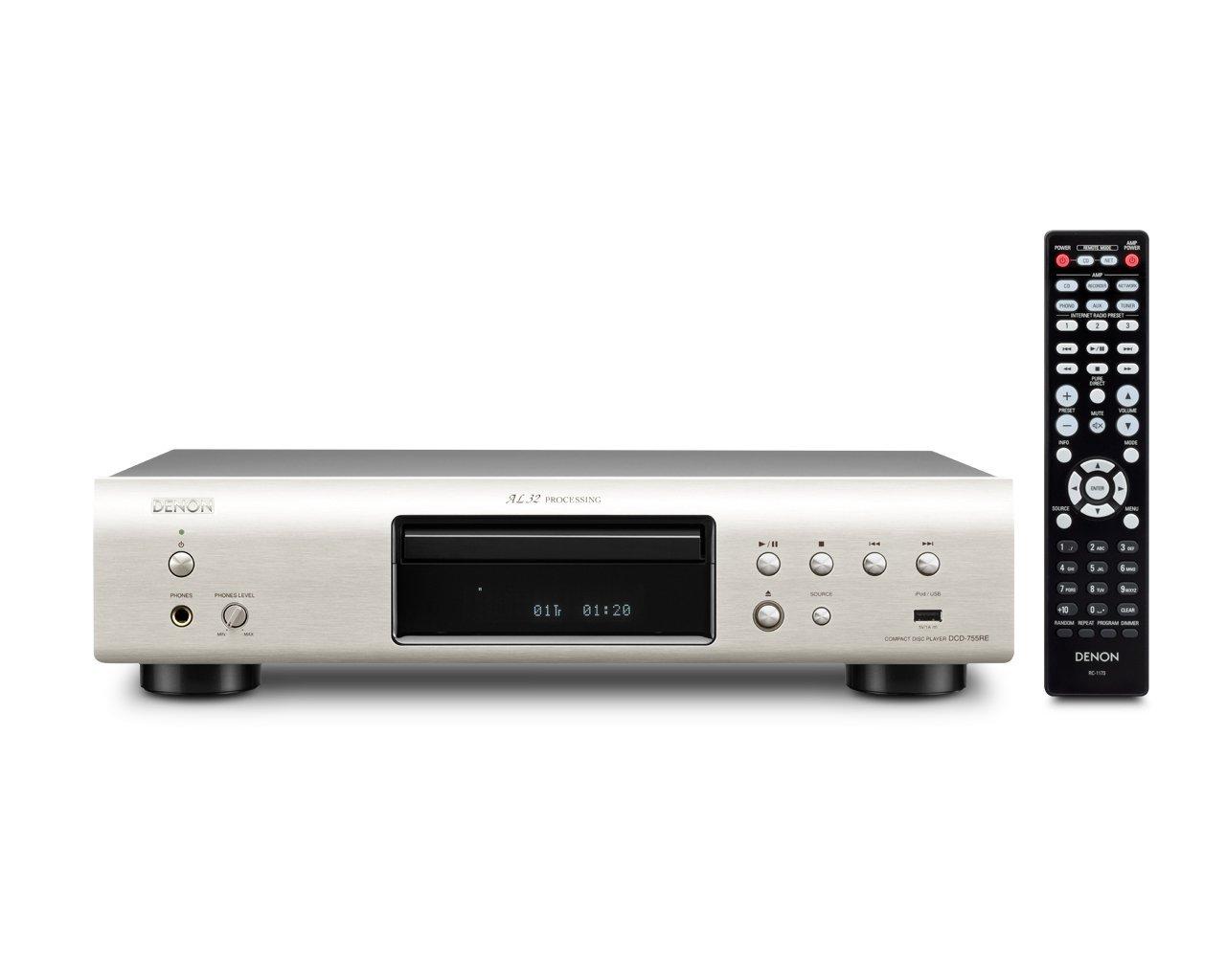 (お取り寄せ)D&M (DENON) デノン CDプレーヤー 192kHz/32bit DAC プレミアムシルバー DCD-755RESP(長期安心保証対象商品)