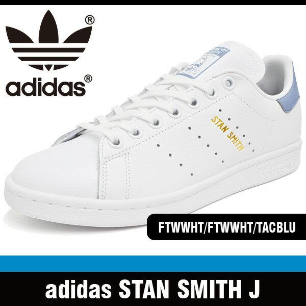 アディダス スニーカー レディース スタン スミス J ホワイト/ホワイト/タクティルブルー adidas STAN SMITH J FTWWHT / FTWWHT / TACBLU CP9810