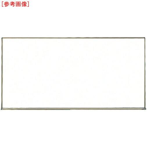 トラスコ中山 TRUSCO スチール製ホワイトボード 白暗線 ブロンズ 600X900 黒 WGH-122SA-BRO