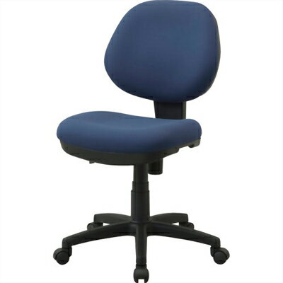 ナカバヤシ ボリューム感溢れる座面と背もたれで座り心地の良いボリュームチェア ネイビー (RZC292NB) RZC-292NB【納期目安:1週間】