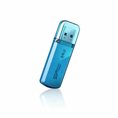 シリコンパワー <Helios101>USBメモリ(64GB/USB2.0/ブルー) S7400H8