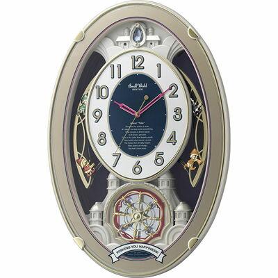 【代引手数料無料】リズム時計 スモールワールドウィッシュ 4MN544RH18