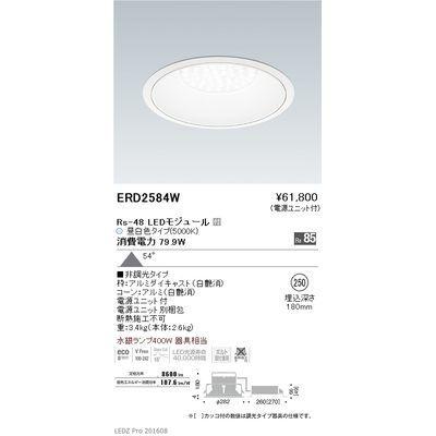 【代引手数料無料】遠藤照明 LEDZ Rs series リプレイスダウンライト ERD2584W