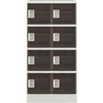 【カード決済OK】アイリスチトセ アイリスチトセ 樹脂ロッカー8人用 クリアブラウン TJLS24STBR