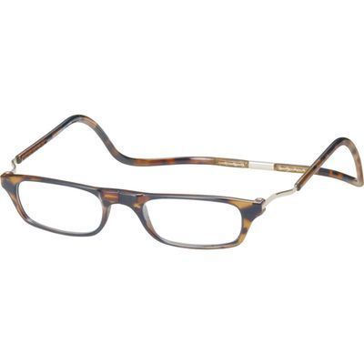 オーケー光学 老眼鏡クリック(clic) エクスパンダブルXLD ライトデミ +2.5 E463996H【納期目安:1週間】