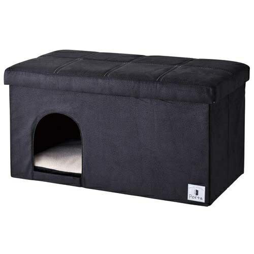 ペティオ ペティオ Porta ドッグハウス&スツール ブラック ワイド E508237H