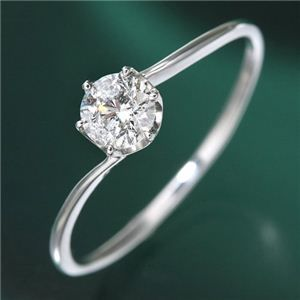 その他 プラチナ0.3ct ダイヤリング 指輪 9号 ds-789323