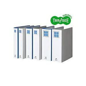 その他 (まとめ)TANOSEE 両開きパイプ式ファイルE A4タテ 80mmとじ グレー 30冊 ds-970456