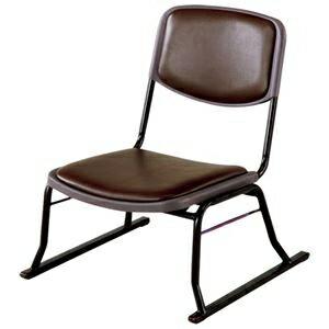 その他 スタッキングチェア/楽座椅子4点セット スチール製 ブラウン 〔法事/集会/会食/来客時〕 ds-1332306