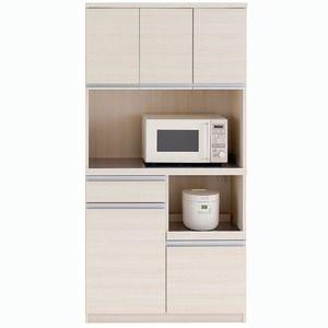 その他 フナモコ 食器棚 【幅90.2×高さ180cm】 ホワイトウッド DKS-90T ds-1342222