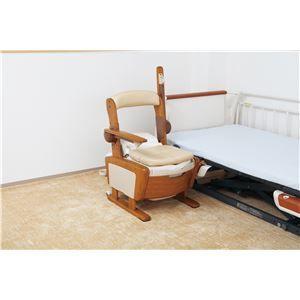 その他 アロン化成 木製ポータブルトイレ 安寿家具調トイレAR-SA1(シャワピタ) (3)はねあげL 533-814 ds-1550746