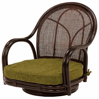 HAGIHARA(ハギハラ) 【2個セット】回転座椅子(ダークブラウン) RZ-341DBR 101484400
