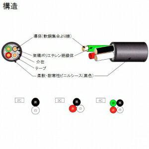 テイコク 柔軟耐寒性ビニルシースキャブタイヤケーブル 14㎟ 3心 100m巻 CRCVCT14SQ×3C×100m