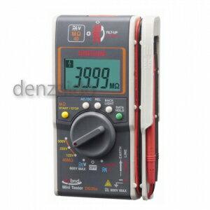 三和電気計器 絶縁抵抗計 ハイブリッドミニテスタ 3レンジ式 定格電圧:125/250/500V 抵抗測定:40MΩ DG35a