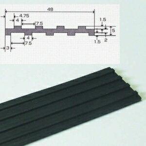 フソー化� �ケース販売特価 20枚セット】 防振ゴム 1m ブラック FBG-50_set