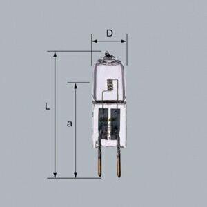 三菱 【ケース販売特価 40個セット】 ミニハロゲンランプ 《HALOSTAR STARLITE》 6V 10W G4口金 J6V10W-AXS_set