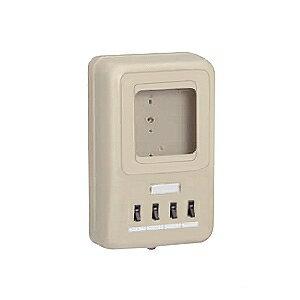 未�工業 電力�計ボックス 分�ブレーカ付� 回路:4 �用:1個用 ベージュ WP4-204J