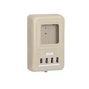 未来工業 電力量計ボックス 分岐ブレーカ・ELB付き ミルキーホワイト WP2-202HKM