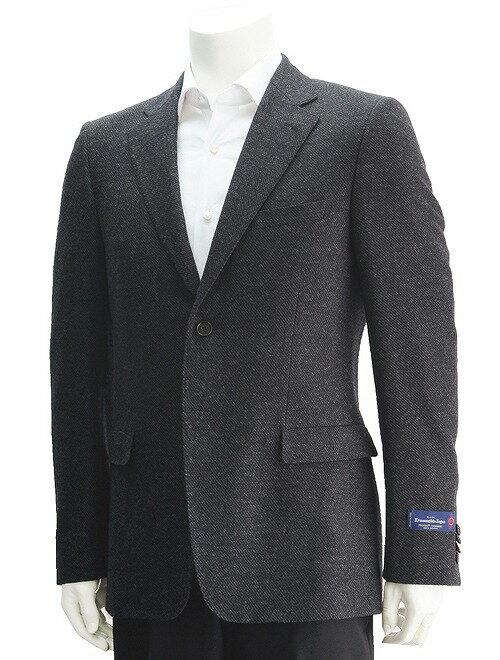 cloth by エルメネジルドゼニア  ZEGNA  TROFEO-CASHMERE トロフェオ グレー 落ち着きのある贅沢で品のある紳士のための2ッ釦シングル ジャケット
