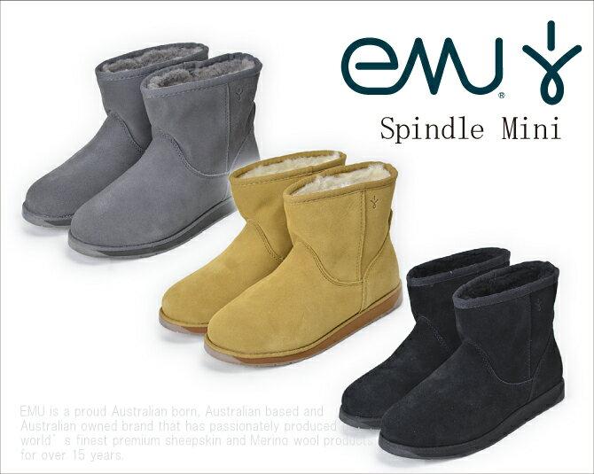 【★ポイント5倍  20日23:59迄】   EMU エミュー SPINDLE MINI スピンドルミニ ムートンブーツ スウェード メリノウール  【西日本】