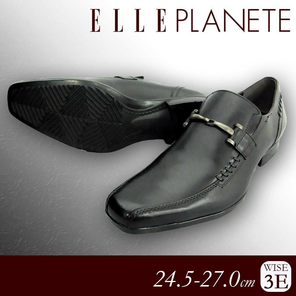 ELLE PLANETE 紳士メンズ 牛革ビジネスシューズ PT5036 ブラック 24.5cm