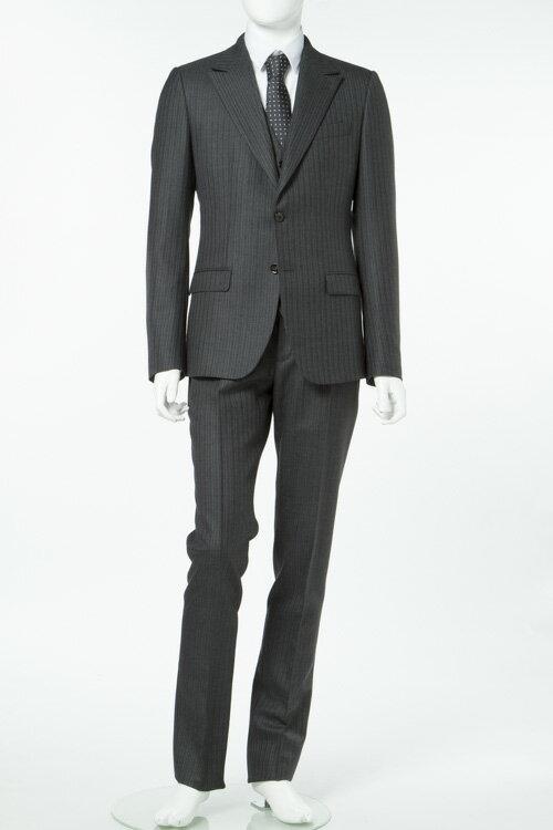 ドルガバ ドルチェ&ガッバーナ DOLCE&GABBANA 3ピーススーツ シングル 2つボタン メンズ G1EMMT FR2R7 グレー 送料無料 3000円OFF クーポンプレゼント