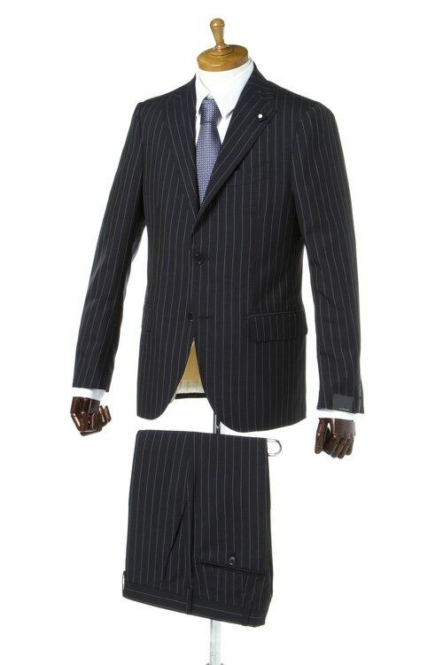 ラルディーニ LARDINI スーツ シングル 3つボタン ブートニエール メンズ EC423AQ 48406 ネイビー 送料無料 3000円OFF クーポンプレゼント 2017SS_SALE