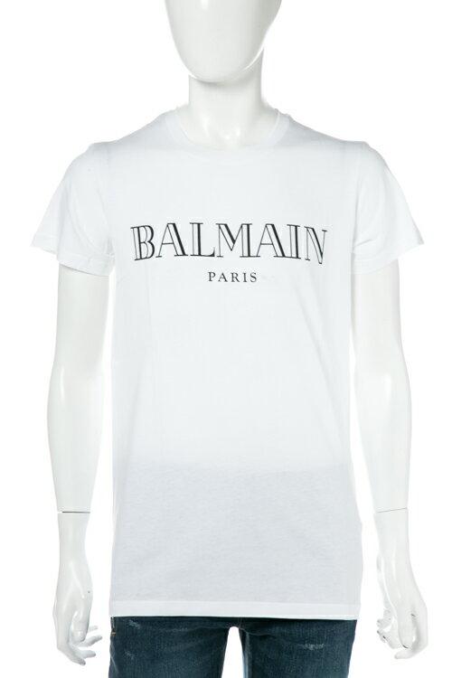 2017年秋冬新作 バルマン BALMAIN Tシャツ 半袖 丸首 メンズ W7H 8601 I039 ホワイト 送料無料 楽ギフ_包装 3000円OFF クーポンプレゼント