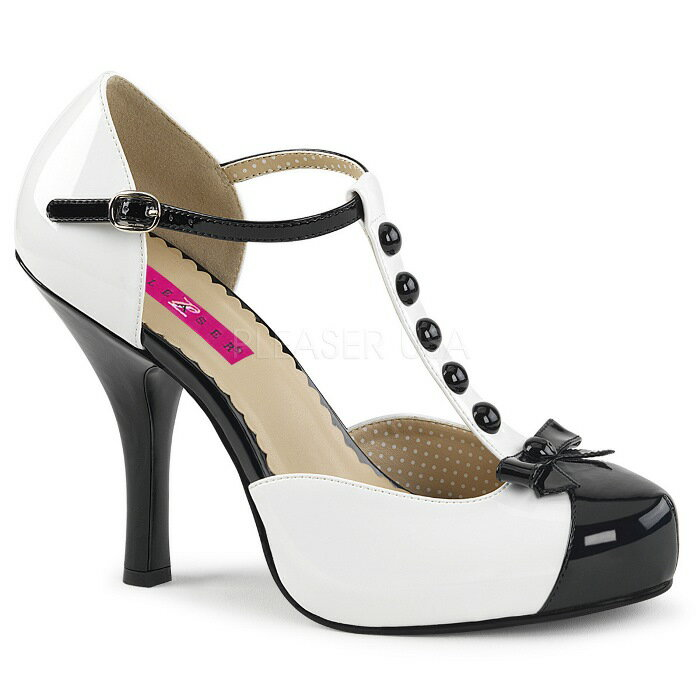 取寄せ靴 送料無料 Tストラップ 厚底 パンプス 11.5cmヒール 白 ホワイト 黒 ブラック エナメル 大きいサイズあり 行事 式 女装 男装 パーティ- LGBTファッション