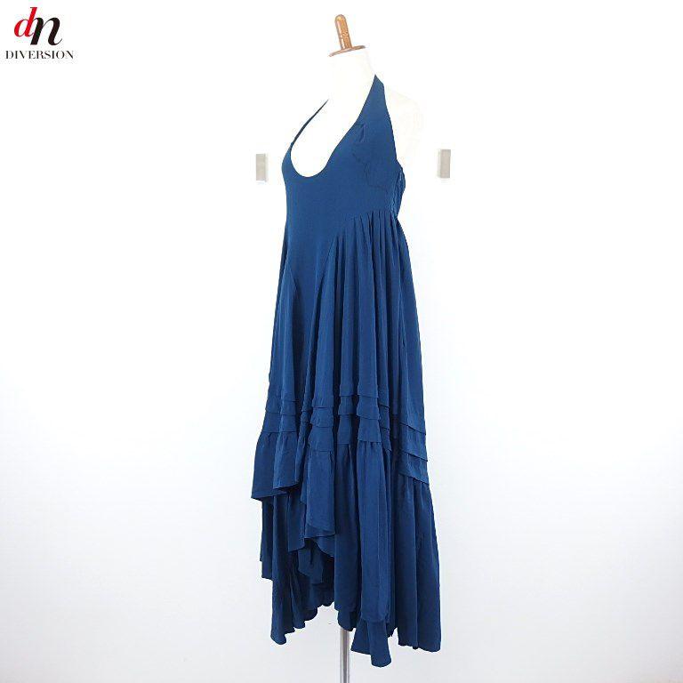 BALENCIAGA SILK バレンシアガ シルク ホルターネック ドレス ワンピース 36 【中古】 DN-3362