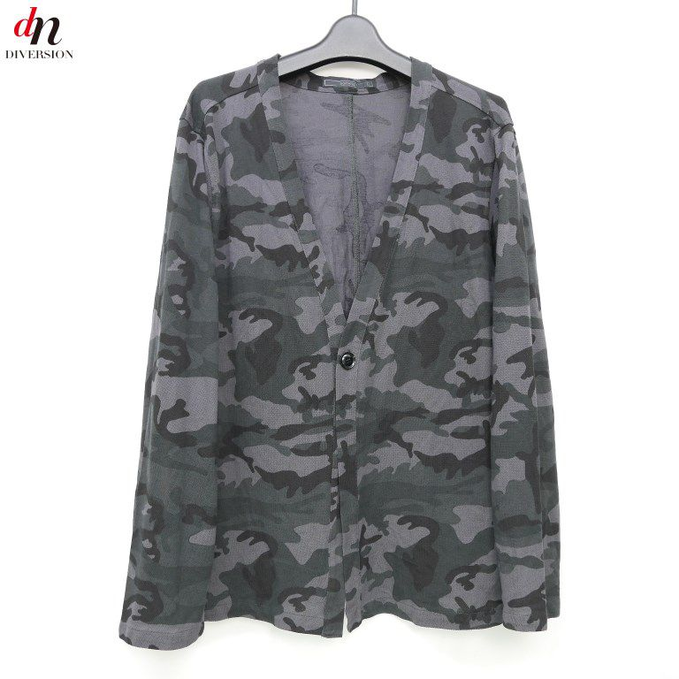 14SS SOPHNET. ソフネット CAMOUFLAGE SEED STITCH ONE BUTTON CARDIGAN 迷彩カーディガン 【中古】 DNS-1052