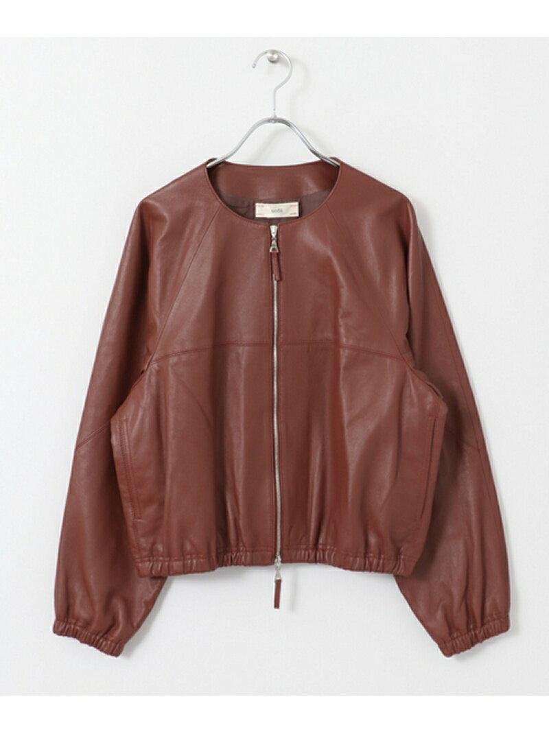 DOORS unfil collarless leather jacket アーバンリサーチドアーズ【送料無料】