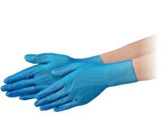 エブノ PVC手袋 NEXT PF S ブルー 2000枚(100枚X20箱) プラスチックグローブ