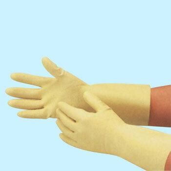 エブノ ラテックス手袋 R-32 M ナチュラル (10双×12袋) 天然ゴム薄手