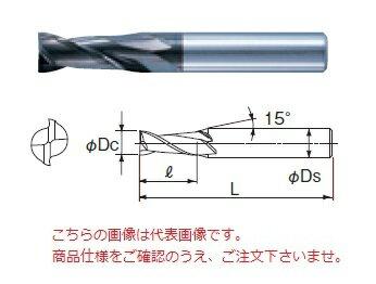 不二越 超硬エンドミル 2DLCSC20 (DLC ミル シャープコーナ 2枚刃)