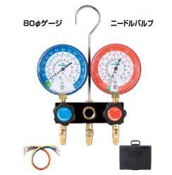 【ポイント10倍】 FUSO (フソー) R22,R12,R502用ゲージマニホールドキット(ニードルバルブ式) FS-702CB-2
