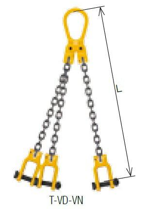 【ポイント5倍】 キトー トリプルスリング T-VD-VN 8mm リーチ1.5m 《キトーチェンスリング100【標準セット品】(ピンタイプ)》