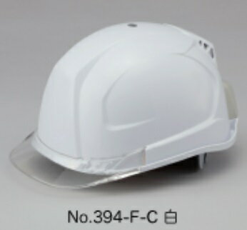【ポイント5倍】 トーヨーセフティー 送風機内臓ヘルメット No.394F-C (白)